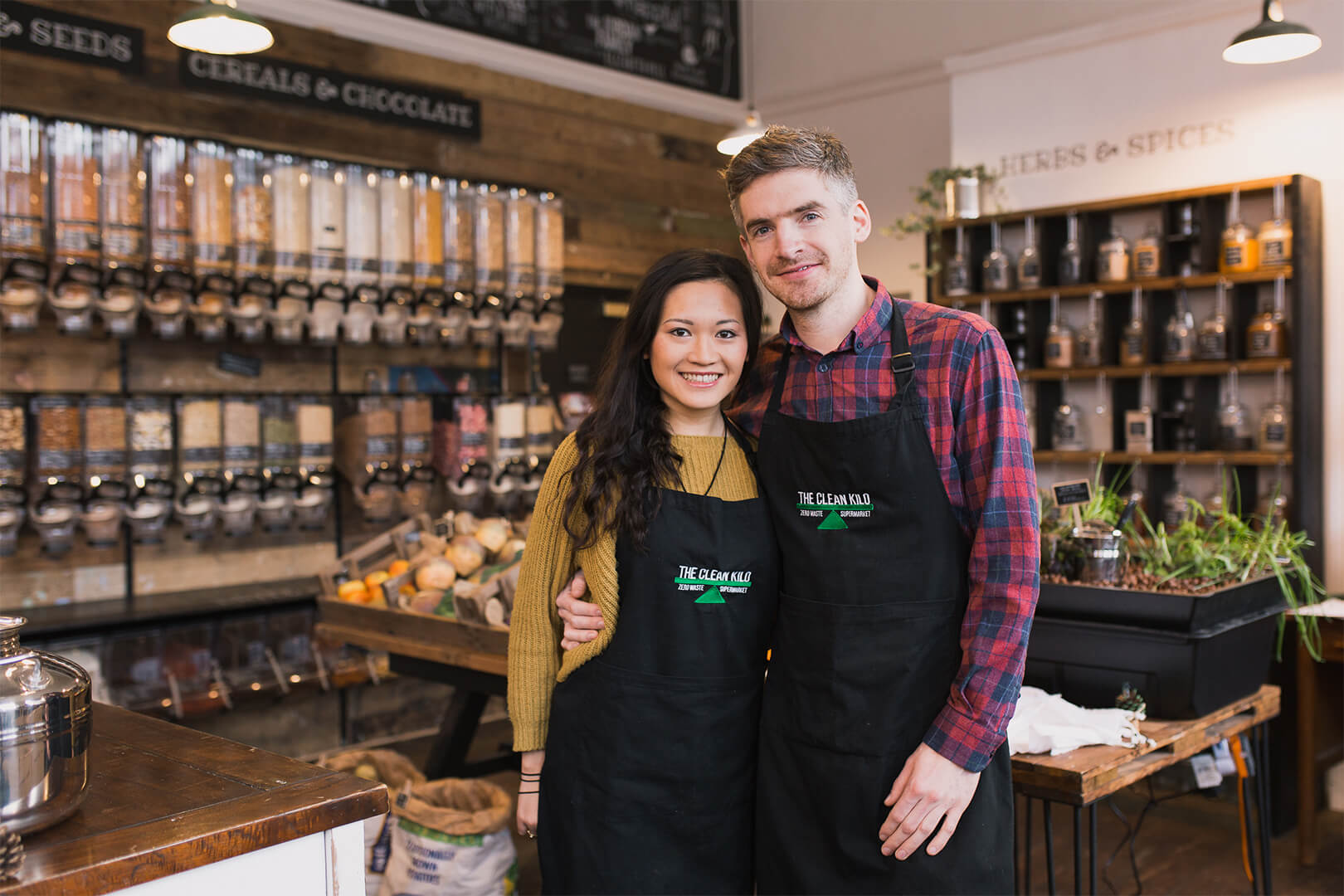 Co-founders of The Clean Kilo Jeanette Wong and Tom Pell